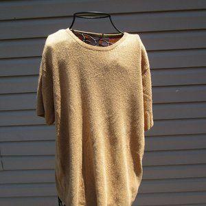 Elena Tannassi Shiny Short Sleeve Sweater Size 2X